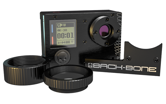 GoPro 4 Black with Ribcage Back-Bone Mod Installed